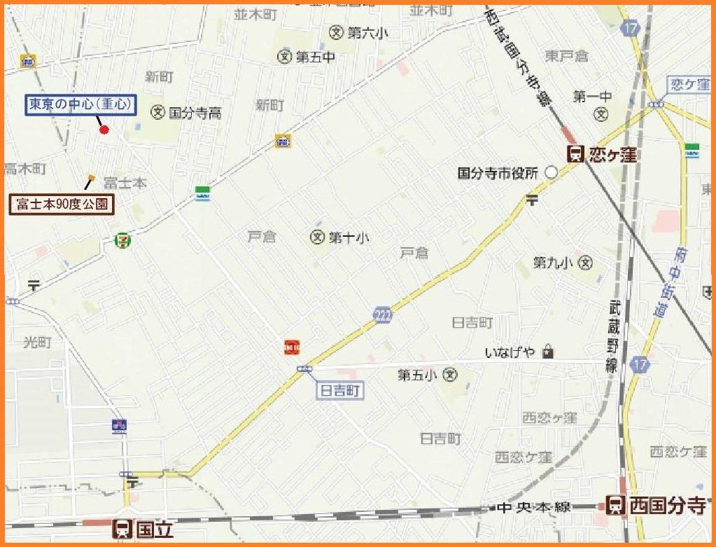東京の中心map