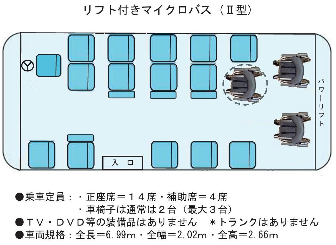 マイクロリフト座席 Ⅱ型